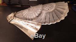 Exceptionnelle paire applique verre signées numérotées ART DECO sconce bracket