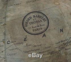 GIRARD BARRÈRE & THOMAS GLOBE TERRESTRE lumineux Chromé 47 cm art déco c. 1940