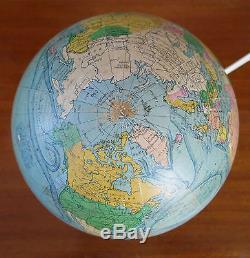 GLOBE TERRESTRE, globe en verre, lampe, mappemonde par FOREST, ART DECO, PARIS