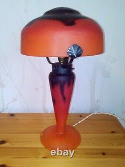 GRANDE LAMPE SCHNEIDER PATE DE VERRE ART DECO 1930 LE VERRE FRANCAIS idem gallé