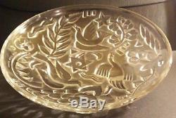 Georges Chevalier Art déco René Goro grande Coupe verre pressée 30 cm