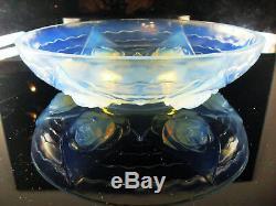 Grand Coupe En Verre Moule Opalescent Art Déco Verlys Etling Sabino Ezan