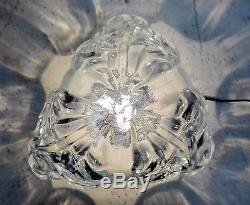 Grand Obus Dôme Globe De Lampe Art Déco Verre Moulé Pressé 1930 Paris Star