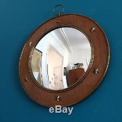 Grand miroir de sorcière (verre bombé) années 40/50 Art Deco / Adnet Royere era