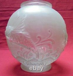 Grand vase Lorrain Pierre D'AVESN Décor de poissons Art Déco 1930