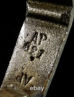 H. Petitot & Muller Frères Suspension Art Déco Bronze Chromé & Obus Verre Pressé