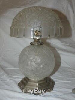 Hettier Vincent lampe de table en verre Art Déco