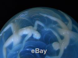 Importante coupe verre opalescente danseuses art déco Verlys joséphine baker