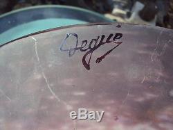 Jolie vasque en pâte de verre art déco signée degué