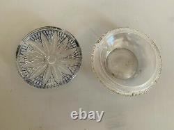 Julien Viard ancienne boite a poudre en verre Art deco Lotus