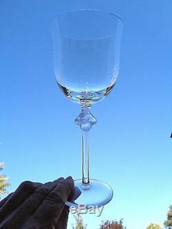 Lalique Roxane Tall Wine Glasses Weingläser Verres A Vin Cristal Taillé Art Deco
