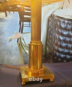Lampe Art Deco Art Nouveau Verre Moulé Bronze ou Laiton