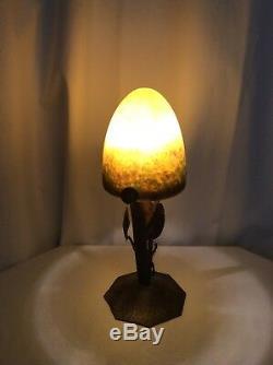 Lampe Art Deco Art Nouveau le Verre Francais