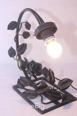 Lampe Art Deco En Fer Forge Pate De Verre Noverdy Lustre