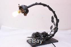 Lampe Art Deco Fer Forge Pour Pate De Verre Lustre