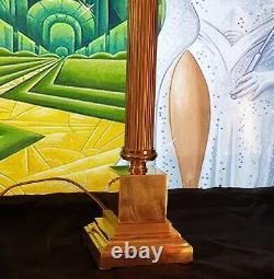 Lampe Art Déco Lampe Art Nouveau Verre Moulé (Bronze ou Laiton)