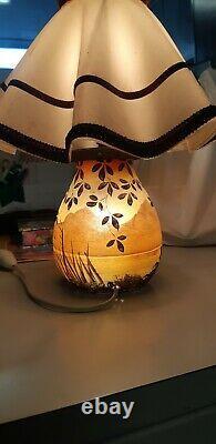Lampe Art déco pâte de verre Nancy Verrier Français
