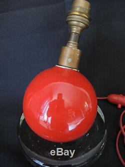 Lampe Boule Jacques Adnet art-Déco. Design Lampe de bureau chevet