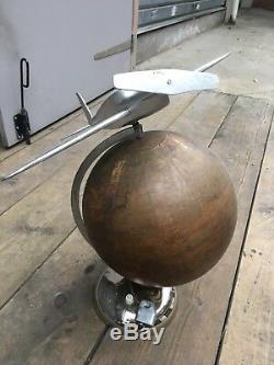 Lampe Mappemonde Art Deco Aviation Chasseur WW2
