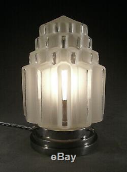 Lampe Veilleuse Building Moderniste Art Deco Skyscraper Gratte-ciel 1930