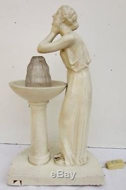 Lampe Vichy source de beauté avec verre/tulipe de SabinoVers 1930