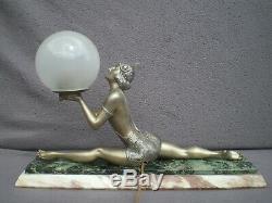 Lampe art deco 1930 femme danseuse russe vintage sculpture lamp woman dancer 30s