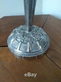 Lampe art deco bronze verre moulé signée SCHNEIDER Genet Michon Muller