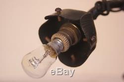 Lampe art déco fer forgé pour pâte de verre Muller Degué Schneider lustre