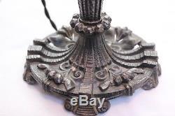 Lampe art déco pour pâte de verre schneider Muller Daum métal argenté lustre