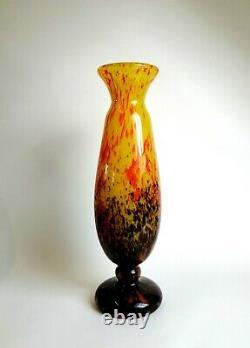 Le Verre Francais. Vase Schneider. Pate De Verre. Art Deco