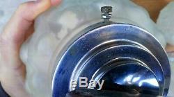 Lot De 4 Anciennes Appliques Art Déco Globes En Verres & Chrome 1930-40