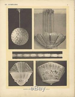 Lustre Art Déco Genet et Michon Art Deco chandelier