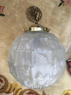 Lustre Art Deco Globe Déclairage Era Muller