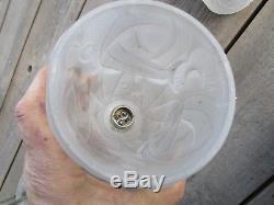 Lustre degué Art Déco années 20 Pate de verre