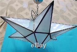 Lustre étoile Américain Moravian star light, Léviton, USA, moderniste 1930