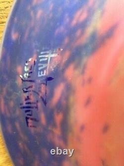 Lustre pâte de verre art déco signée Muller