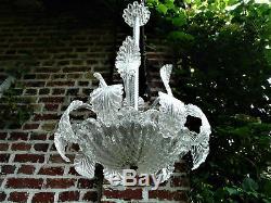 Magnifique grand lustre en verre de murano venise italie vers 1960