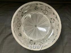Muller Frères ancienne vasque plafonnier en verre Art Deco lustre signé