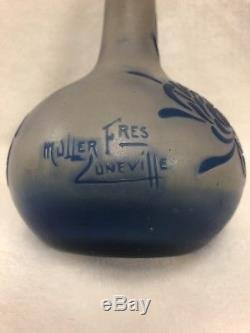 Muller Fres Luneville Vase Pate De Verre Art Deco Camee 1930 Perfume Atomizer