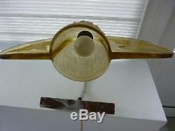 Originale et superbe lampe en pâte de verre ART DECO fonctionne décor oiseaux