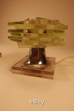 Paire De Lampe De Bureau Maison Desny Art Déco Moderniste