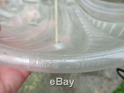 Paire d'applique asymétrique en pate de verre moulé pressé art déco lustre