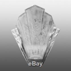 Paire d'appliques Art Deco fleurs stylisées DES HANOTS / Pair of wall lamps