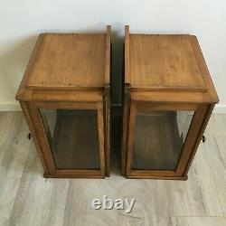 Paire de Vitrines Art Deco Verres Biseautés Hauteur 63 cm