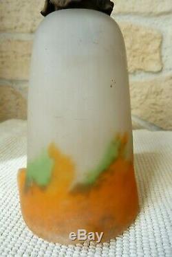 Paire de tulipes MULLER FRÈRES LUNÉVILLE pâte de verre vers 1920 ref 802
