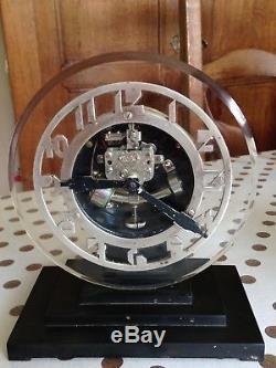 Pendule ATO verre Lalique Bakelite 1930 électrique Art Déco Clock Glass
