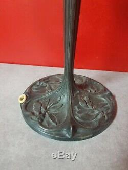 Pied de Lampe Art Deco en regule pour pate de verre tulipe schneider daum lampe