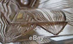 Pierre D'Avesn FranceRare vase jet d'eau monture bronze vers 1925 Art Déco