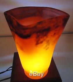 Rare Tulipe Muller frères pâte de verre ART DÉCO / NOUVEAU pour lampe lustre