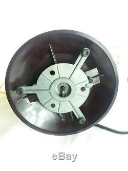 Rare lampe saturne moderniste pied bakélite verre soufflé moucheté art déco 1920